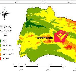 دانلود نقشه طبقات ارتفاعی استان خراسان شمالی