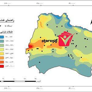 دانلود نقشه طبقات بارشی استان خراسان شمالی