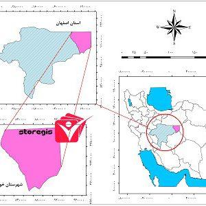 دانلود نقشه موقعیت شهرستان خور و بیابانک