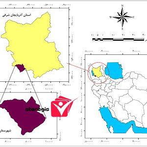 دانلود نقشه موقعیت شهرستان ملکان