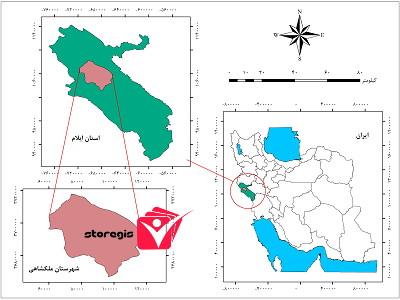دانلود نقشه موقعیت شهرستان ملکشاهی