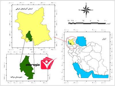دانلود نقشه موقعیت شهرستان مراغه