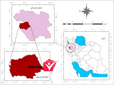 دانلود نقشه موقعیت شهرستان مریوان