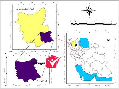 دانلود نقشه موقعیت شهرستان میانه