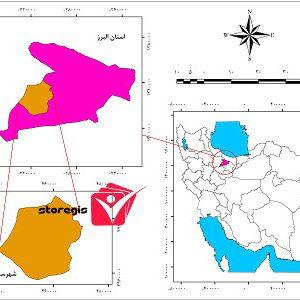 دانلود نقشه موقعیت شهرستان نظرآباد