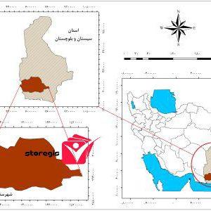 دانلود نقشه موقعیت شهرستان نیکشهر