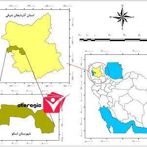 دانلود نقشه موقعیت شهرستان اسکو