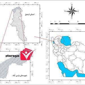 دانلود نقشه موقعیت شهرستان پارس آباد