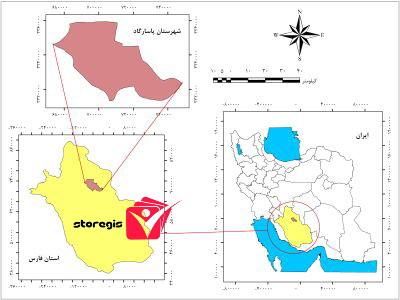 دانلود نقشه موقعیت شهرستان پاسارگاد