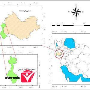 دانلود نقشه موقعیت شهرستان قصر شیرین
