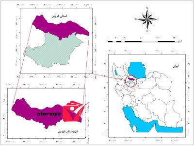 دانلود نقشه موقعیت شهرستان قزوین