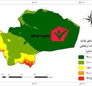 دانلود نقشه طبقات ارتفاعی استان قم