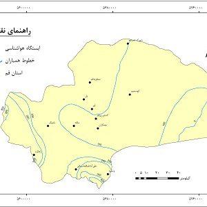 دانلود نقشه همباران استان قم