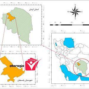 دانلود فایل موقعیت شهرستان رفسنجان