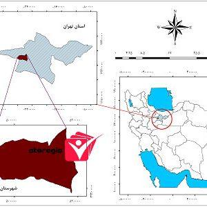 دانلود نقشه موقعیت شهرستان رباط کریم