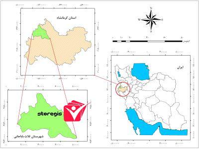 دانلود نقشه موقعیت شهرستان ثلاث باباجانی