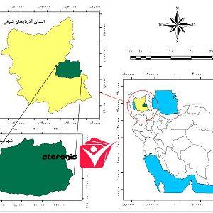 دانلود نقشه موقعیت شهرستان سراب