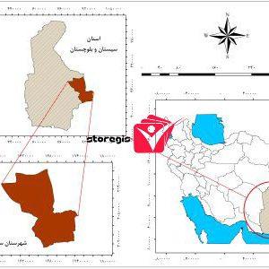 دانلود نقشه موقعیت شهرستان سراوان