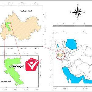 دانلود نقشه موقعیت شهرستان سرپل ذهاب