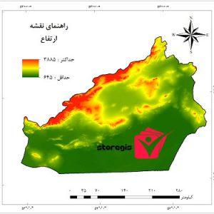 دانلود نقشه ارتفاع استان سمنان