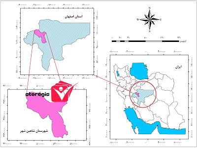 دانلود نقشه موقعیت شهرستان شاهین شهر