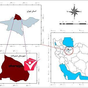 دانلود نقشه موقعیت شهرستان شمیرانات