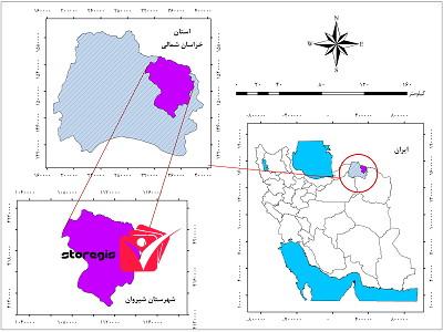 دانلود فایل موقعیت شهرستان شیروان