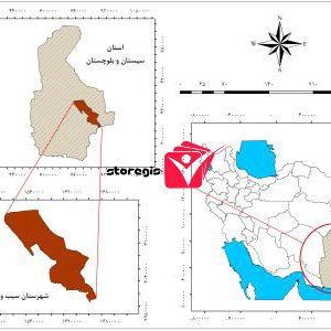 دانلود نقشه موقعیت شهرستان سیب و سوران