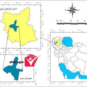 دانلود نقشه موقعیت شهرستان تبریز