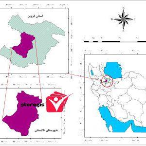 دانلود نقشه موقعیت شهرستان تاکستان