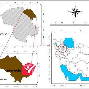 دانلود نقشه موقعیت شهرستان طارم