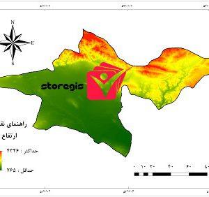 دانلود نقشه ارتفاع استان تهران