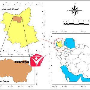 دانلود نقشه موقعیت شهرستان ورزقان