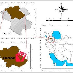 دانلود نقشه موقعیت شهرستان زنجان