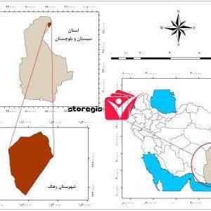 دانلود نقشه موقعیت شهرستان زهک