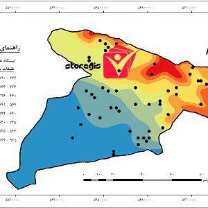 دانلود نقشه طبقات بارشی استان البرز