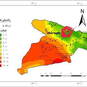 دانلود نقشه طبقات دما استان البرز