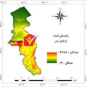 دانلود نقشه ارتفاع استان اردبیل