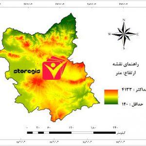 دانلود نقشه ارتفاع استان آذربایجان شرقی
