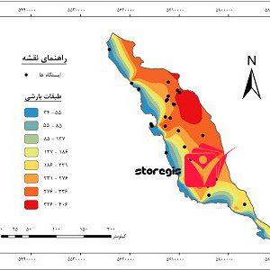 دانلود نقشه طبقات بارشی استان بوشهر