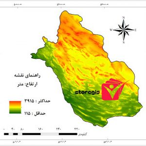 دانلود نقشه ارتفاع استان فارس