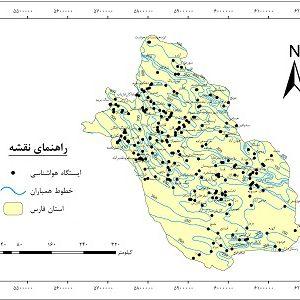 دانلود نقشه همباران استان فارس