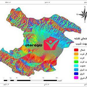 دانلود نقشه جهت شیب استان قزوین