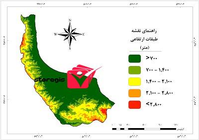 دانلود نقشه طبقات ارتفاعی استان گیلان