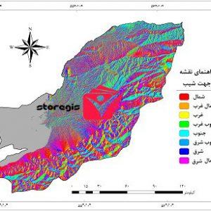 دانلود نقشه جهت شیب استان گلستان