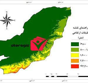 دانلود نقشه طبقات ارتفاعی استان گلستان