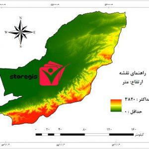 دانلود نقشه ارتفاع استان گلستان