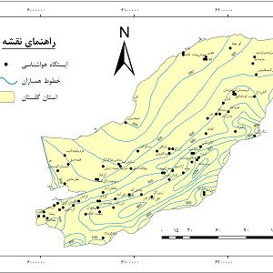 دانلود نقشه همباران استان گلستان