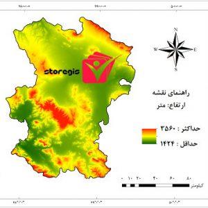 دانلود نقشه ارتفاع استان همدان