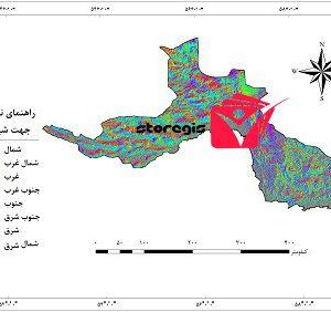 دانلود نقشه جهت شیب استان هرمزگان